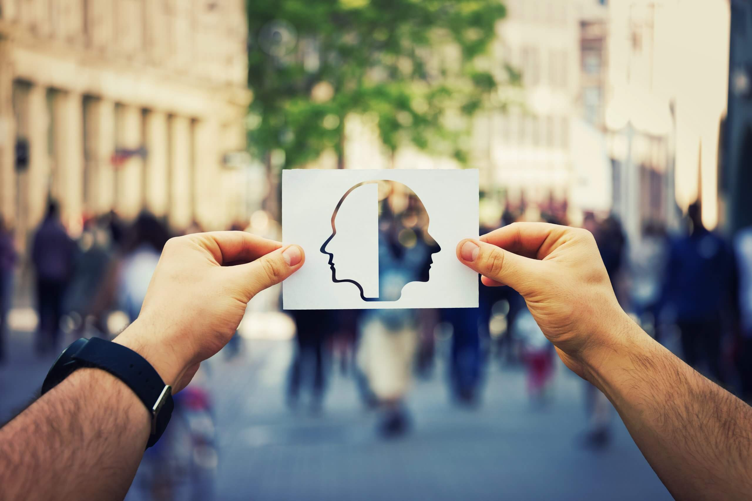 people hands with picture